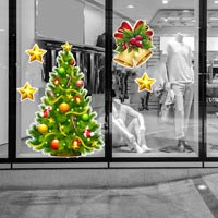 Adesivi natalizi per vetrine