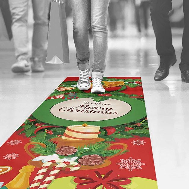 Adesivi natalizi per pavimenti