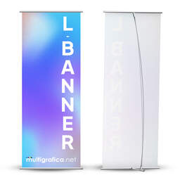 Espositore portabanner L-Banner da pavimento | multigrafica.net