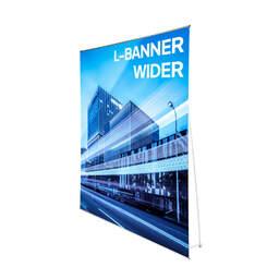 Espositore fiera economico portabanner L-Banner Wider | multigrafica.net