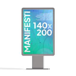 Stampa manifesti 140x200 per affissione personalizzati