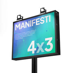 Stampa Manifesti 4x3 per affissione personalizzati