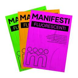 Stampa Manifesti su Carta Fluorescente per affissione