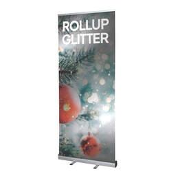Rollup espositore avvolgibile con stampa glitter   multigrafica.net