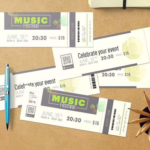 Biglietti con Matrice Personalizzati