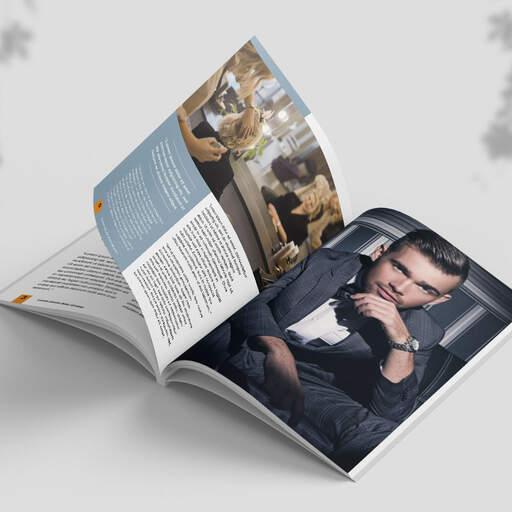 Stampa cataloghi e riviste con brossura
