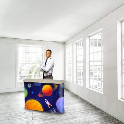 Eco Table Rounded Desk Promozionale personalizzato