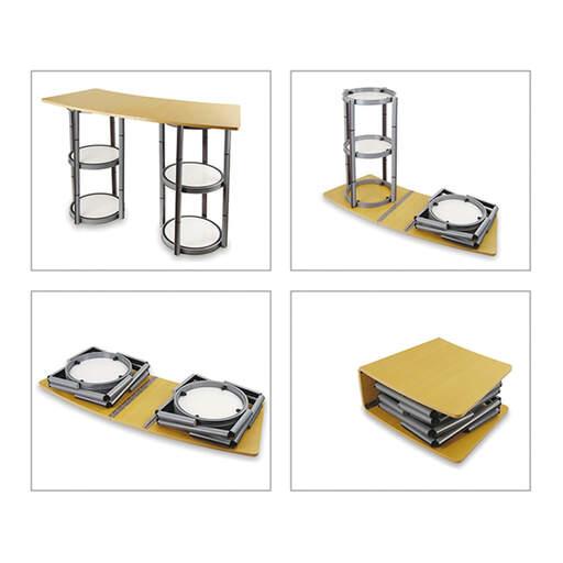 Chiusura semplice e veloce per il Folding Table Desk Promozionale