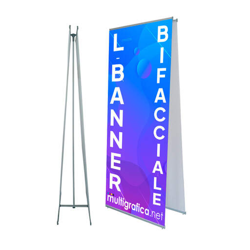Espositore porta-banner bifacciale | multigrafica.net