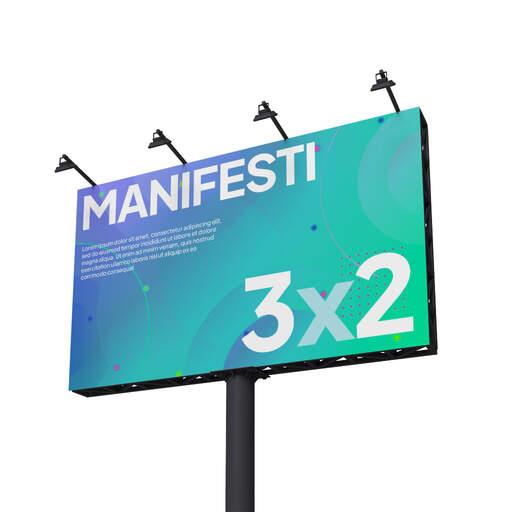 Stampa Manifesti 3x2 da affissione personalizzati
