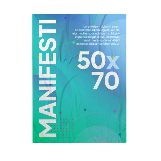 Stampa Manifesti 50x70 per affissione personalizzati