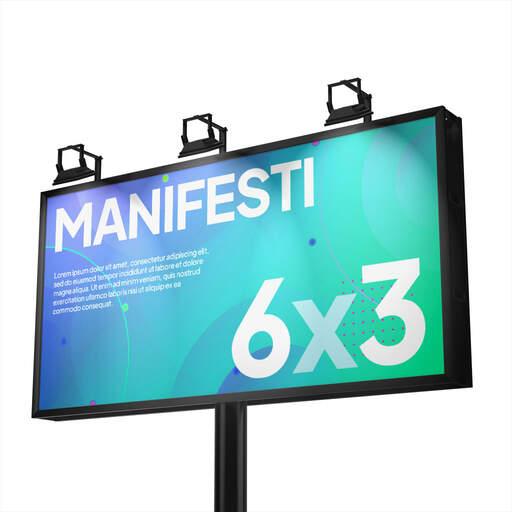 Stampa Manifesti 6x3 per affissione personalizzati