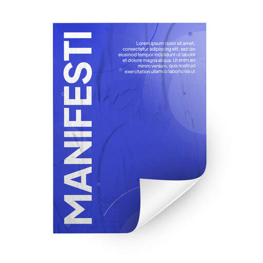 Manifesti per affissione su Carta Bianca personalizzati