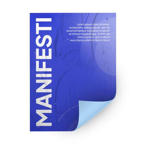 Stampa Manifesti per affissione su Carta Blueback personalizzati