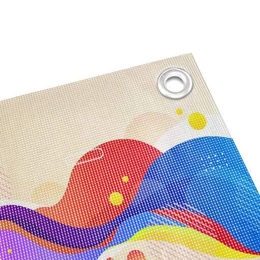 Stampa Rete Microforata - Mesh con Occhielli | multigrafica.net