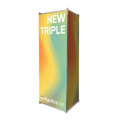 espositore portabanner totem new triple | multigrafica.net