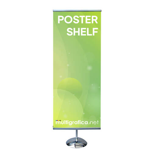 espositore portabanner da pavimento poster shelf discal foot   multigrafica.net