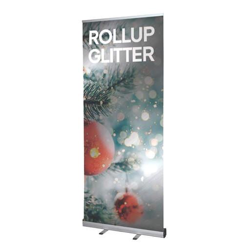 Rollup espositore avvolgibile con stampa glitter | multigrafica.net