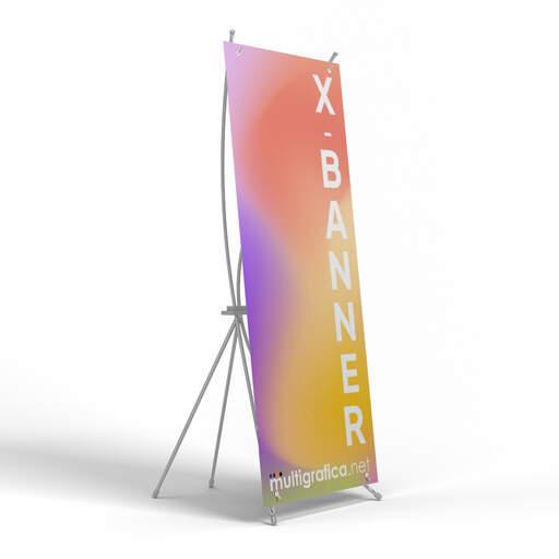 Espositore porta banner economico X-banner | multigrafica.net
