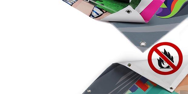 Banner PVC ignifugo ideale per fiere
