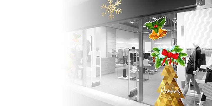 Adesivi natalizi Kit decorazione vetrine