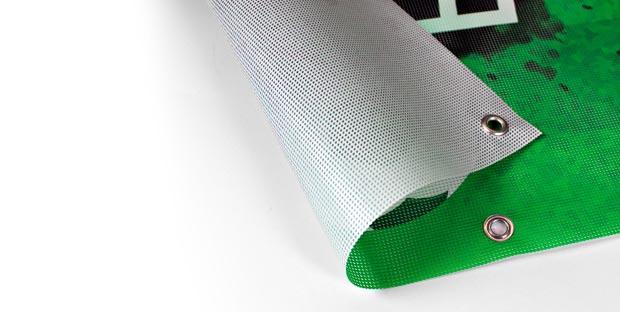 Stampa striscione, banner, teli pubblicitari occhiellati rete microforata online