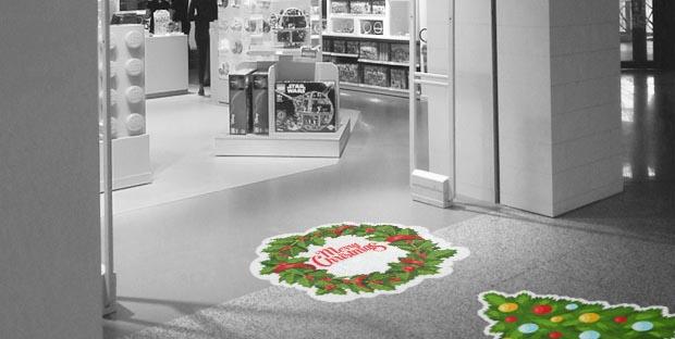 pvc adesivi natalizi per decorare pavimenti