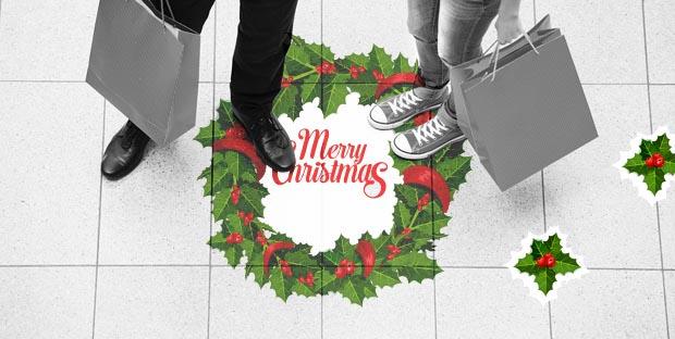 Adesivi natalizi calpestabili per pavimenti