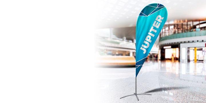 Bandiere a goccia pubblicitarie personalizzate