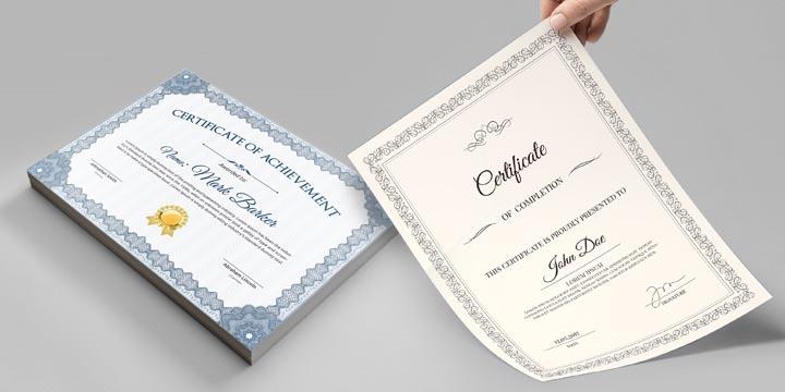 stampa diplomi e attestati