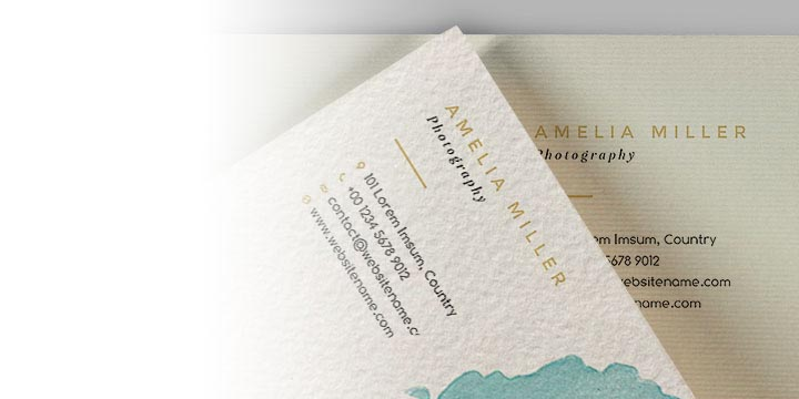 Biglietti da visita su carta Acquerello o Tintoretto Avorio