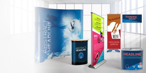 Espositori pubblicitari personalizzati per fiere e negozi   multigrafica.net