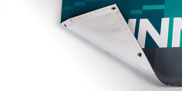 stampa striscione banner pvc rinforzo e occhielli