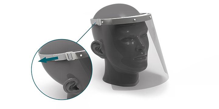 CARGOOL Visiera protettiva di sicurezza visiera , 10 schermi